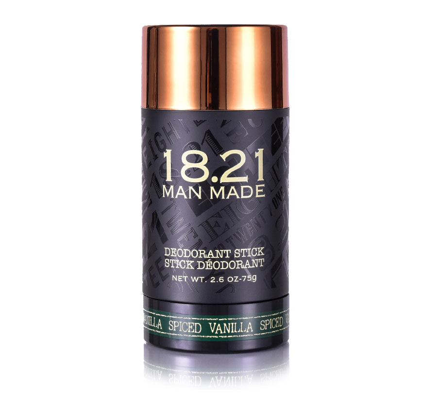 18.21 MAN MADE DEODORANT- SPICED VANILLA 2.6oz/75g (D)