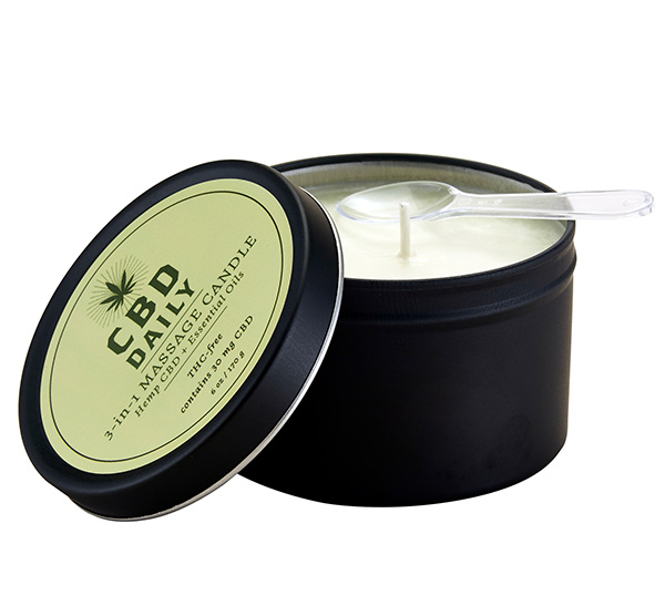 3-in-1 Massage Candle 6oz CBD Daily
