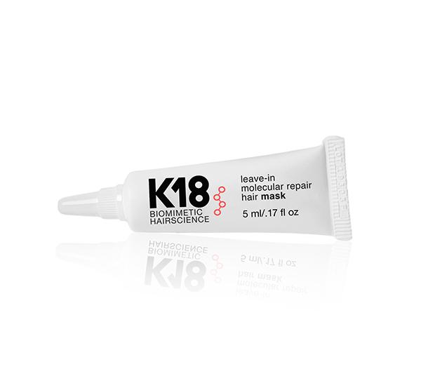 K18 Leave-In Molecular Repair Hair Mask Peptide Doses K18 Biomimetic Hairscience