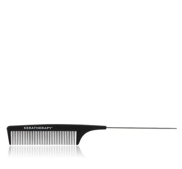 Heat Resistant Carbon Tail Comb Black Keratherapy