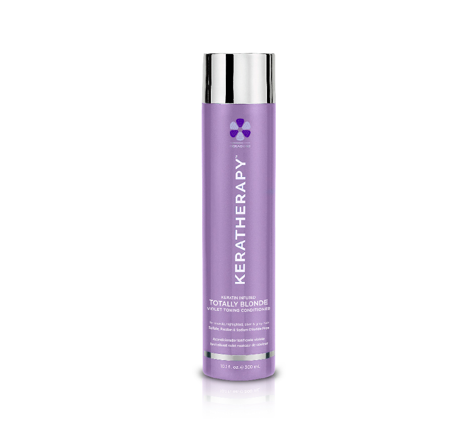 Totally Blonde Violet Toning Conditioner 10.1oz KERATHERAPY