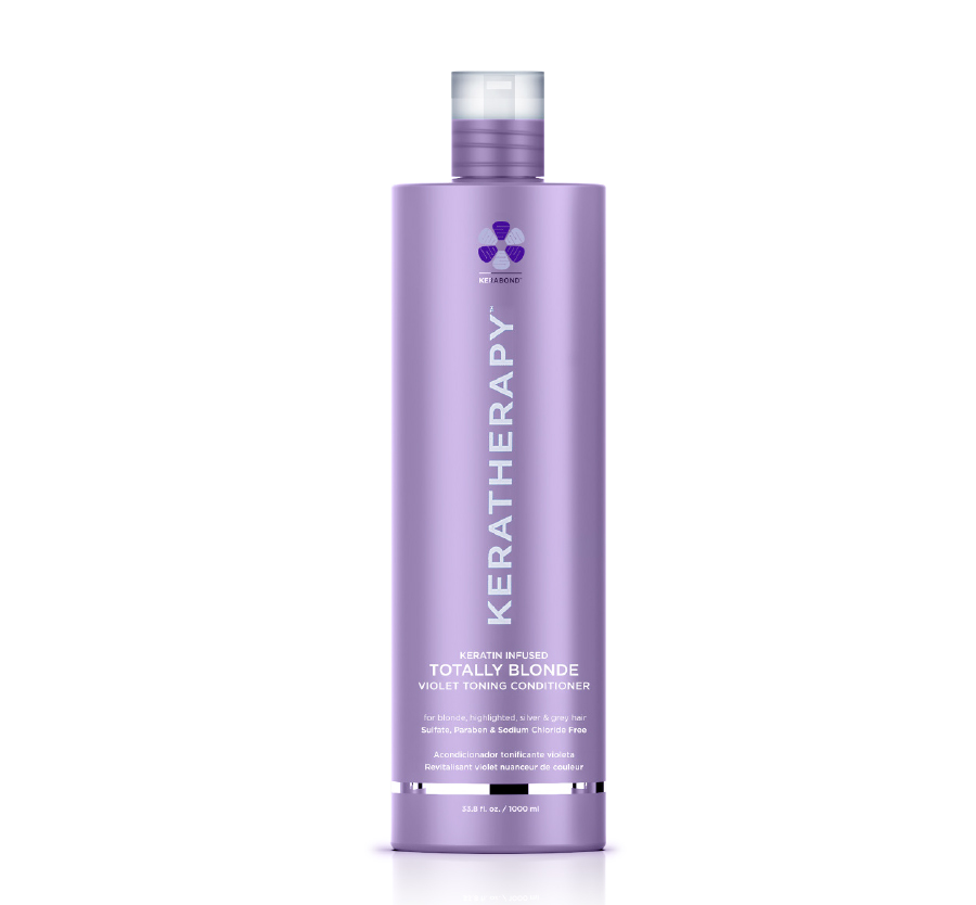 Totally Blonde Violet Toning Conditioner 33.8oz Keratherapy