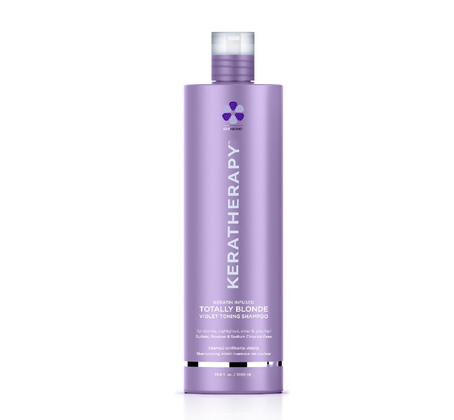 Totally Blonde Violet Toning Shampoo 33.8oz Keratherapy