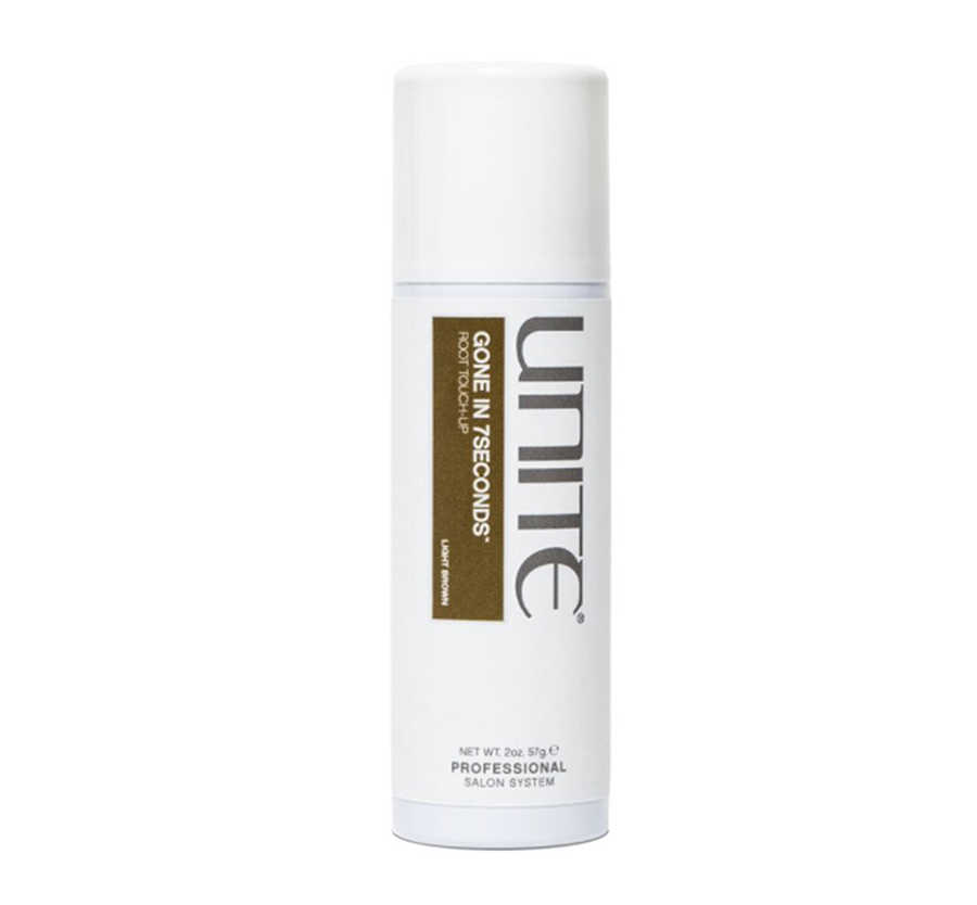 GONE IN 7SECONDS Root Touch Up Spray Light Brown 2oz Unite