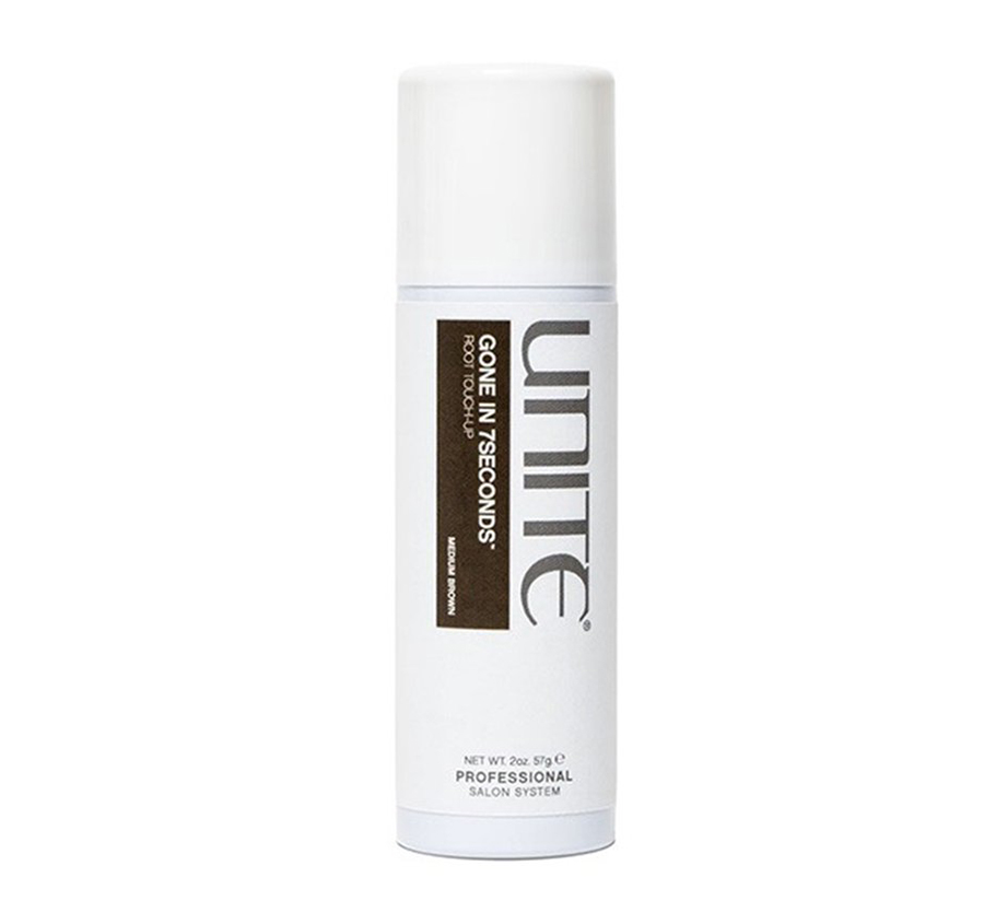 GONE IN 7SECONDS Root Touch Up Spray Medium Brown2oz Unite